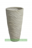 Graphic vase white washed 40Øx75h