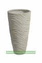 Graphic vase white washed 48Øx90h
